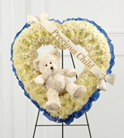 Precious Child Heart Standing Piece in Bowerston, OH | LADY OF THE LAKE FLORAL & GIFTS