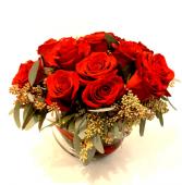 Precious Dozen Roses Arrangement