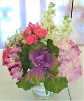 Precious Hues Vase Arrangement