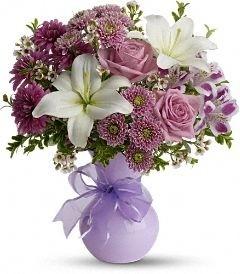 precious in purples florial arrangement