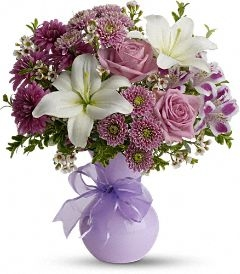 precious in purples florial arrangement