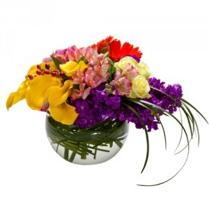 Precious Love Bowl Bubble vase in West Hills, CA | WEST HILLS FLOWER SHOPPE