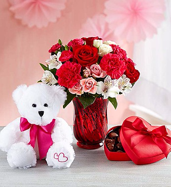 Precious Love Medley, chocolate and bear