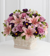 precious memory  basket arrangement