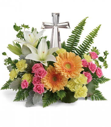Precious Petals One-Sided floral arrangement