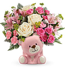 Precious Pink Baby Bear TNB15-1B in Snellville, GA | SNELLVILLE FLORIST