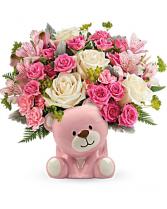Precious Pink Bear Arrangement