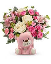 Precious Pink Bear Keepsake