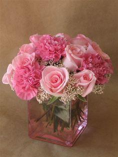 Precious Pink  Cube Arrangement