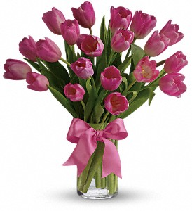 Precious Pink Tulips Cylinder