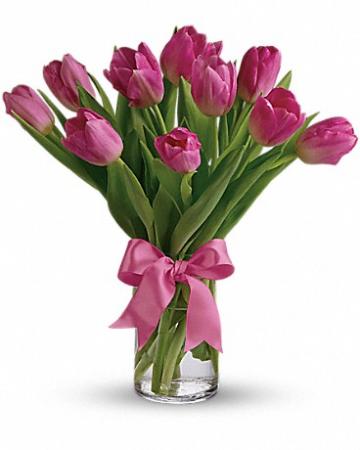 """Precious Pink Tulips T11Z106A 12""""(w) x 14""""(h)"""