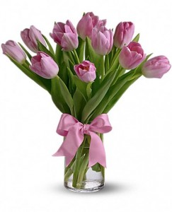 Precious Pink Tulips Tulips Only at Mom & Pop Flower Shop in Oxnard, CA | Mom and Pop Flower Shop