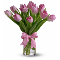 Precious Pink Tulips Vase arrangement