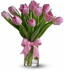 Single Color Tulips Vase Arrangement