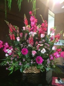 Precious Pinks Sympathy Basket