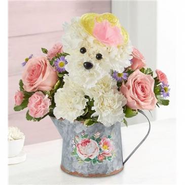 Precious Pup Floral Arrangement