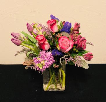 Precious Purple Vase Arrangement