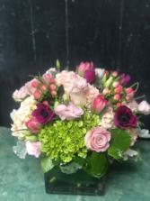 Premium Designer's Choice Low and Dense Vase Arrangement