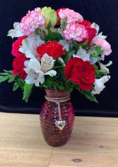 Premium Dozen Carnations  Vased