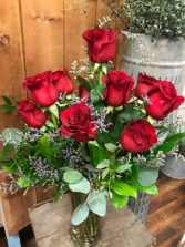 Premium Dozen Rose Arrangement Dozen Big & Beautiful Roses