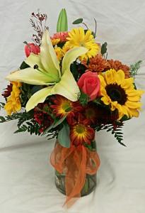 Premium Fall Floral Vase
