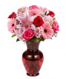 Premium Fresh Floral Vase Roses, Lilies, Daisies and More!