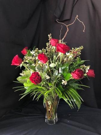Premium Hearts Rose Dozen
