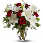 Premium Lily and Rose  Arrangement