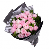 Premium Long  24-inch light pink Roses