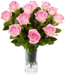 PREMIUM LONG STEM PINK ROSES ARRANGEMENT
