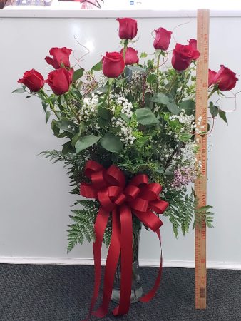 Premium Long Stem Red Roses 70cm Roses