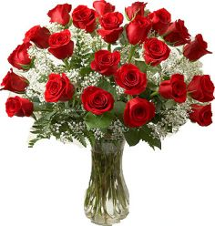 PREMIUM LONG STEM RED ROSES ARRANGEMENT