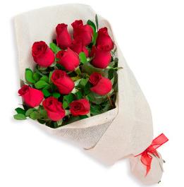Premium Long Stem Red Roses Bouquet.