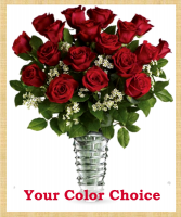 Premium Long Stemmed Roses Your Color Choice