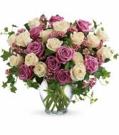 Premium Purple and White Roses Bouquet