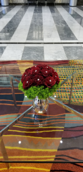premium red garden roses  Red Rose Arrangement