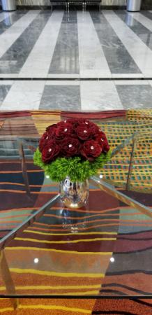 premium red garden roses  Red Rose Arrangement