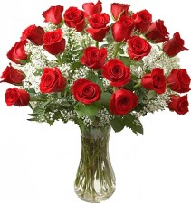 PREMIUM RED ROSES  LONG STEMS ARRANGEMENT