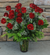 Premium Two Dozen Roses Classic Rose Arrangement