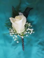 Premium White Rose Boutonniere