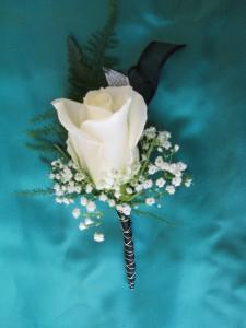 Premium White Rose Boutonniere  in Hesperia, CA | ACACIA'S COUNTRY FLORIST