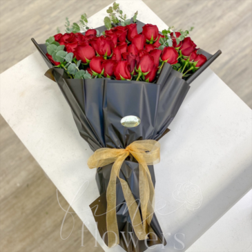 Premium Wrapped Rose Bouquet Wrapped Bouquet