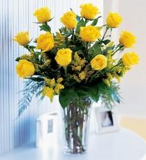 Premium Yellow Dozen Roses
