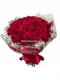 Presentation Bouquet- 50 Roses