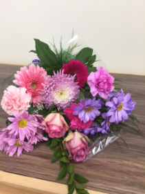 Sparkling and Colorful  Wrapped Bouquet (no vase)