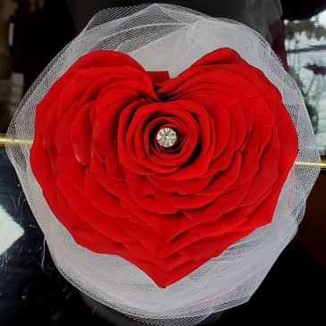 Preserved Rose Red Heart Preserved Rose