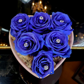 Preserved Roses 6 Blue Preserved Roses