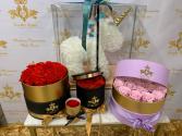 Preserved Roses Round Box Round Box