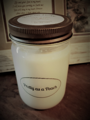 Pretty as a peach candle  in Fairview, TN | Holman Florist