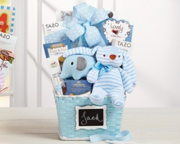 Pretty Baby Blue Gift Basket